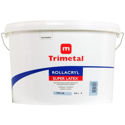 Trimetal Rollacryl Superlatex is a velvet matte wall paint, water-based, based on styrene acrylate resins, for indoor and outdoor use