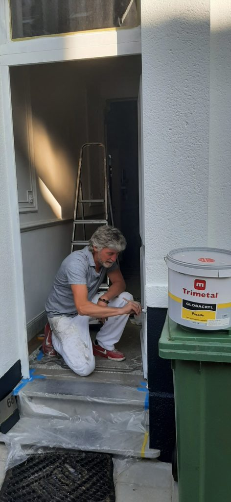 Painting Exteriour House Brick Wood and Door