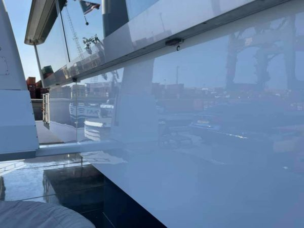 Super high gloss marine paint lacquer for living quarter, hatch coming, bulwark on inland marine ships and vessels