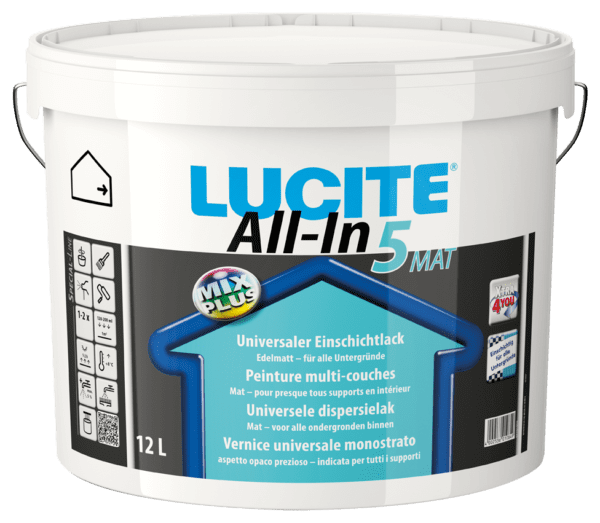 Lucite All in 5 House Paint for wall and ceiling